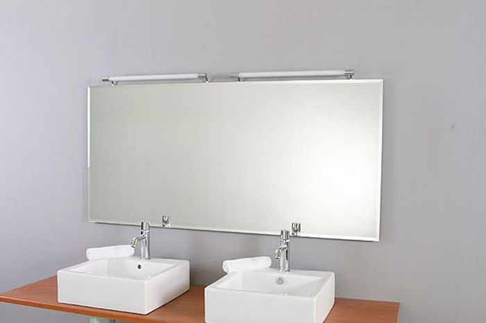 Dual Bathroom Lights Over Mirror