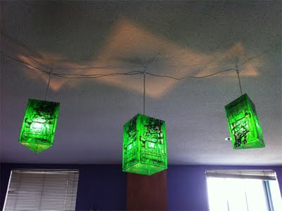 Green Cheap Lighting Fixtures