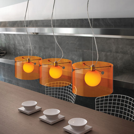 Orange Contemporary Lighting Fixtures