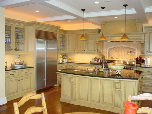 Triangle kitchen pendant lighting 2016 Kitchen triangle design with island