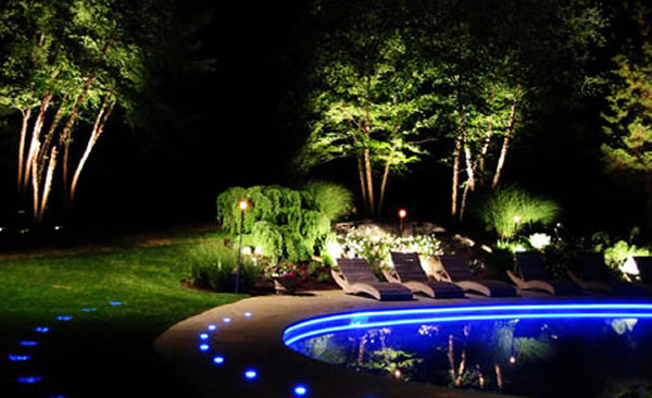 Blue Led Outdoor Lighting