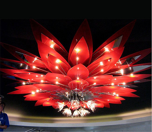 Red Flower Light Design