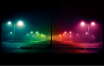Colorful Street Lights