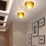 Crystal Gold Hallway Light Fixtures