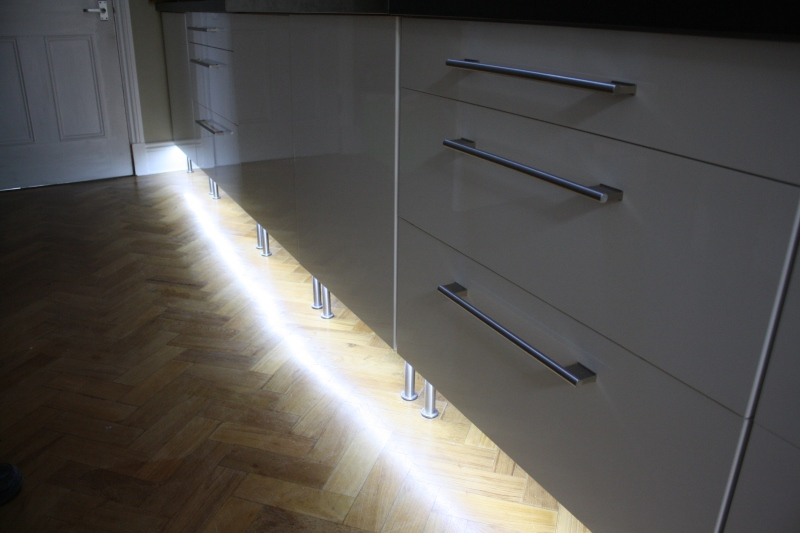 White Led Strip Lights Kitchen