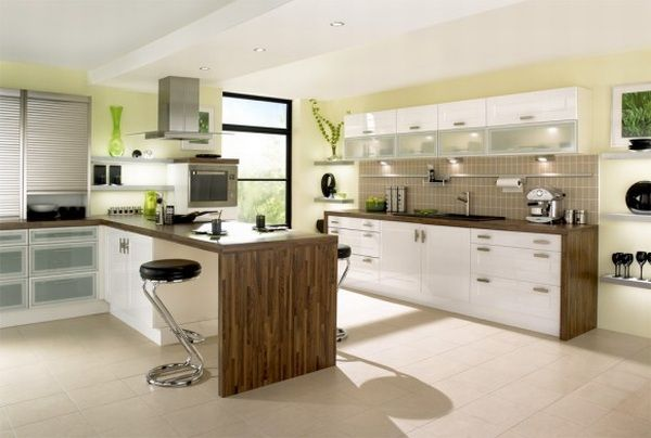 Fresh Green Modern Kitchens