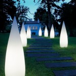 White Pointy Outdoor Lights