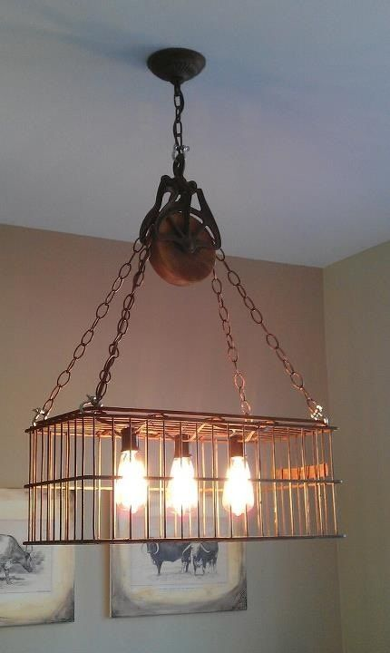 Caged Vintage Light Fixtures