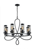 Zeev Lighting Kenosha Collection Traditional Chandelier 8 Lights Medium Base Edison Bulb