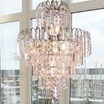 Lightinthebox European-Style Luxury 6 Lights Chandelier In Crown Shape, Crystal Home Ceiling Light Fixture, Pendant Light Chandeliers Lighting for Dining Room, Bedroom, Living Room