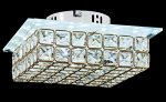 New Galaxy Modern LED Crystal Chandelier Flush Mount Ceiling Lighting Fixture, 2 light colors in one Smart Lamp, #102