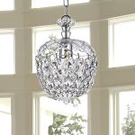 Saint Mossi Crystal Chandelier Glass Dish Modern & Contemporary Ceiling Pendant Light 1 E12 Bulb Required H12″ X D8″