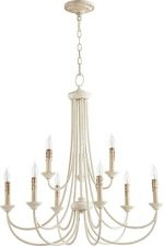 Quorum Lighting 6250-9-70, Brooks 2 Tier Chandelier Lighting, 9LT, 180 Watts, Persian White