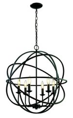 Trans Globe Lighting 70656 ROB Apollo 24″ Indoor Rubbed Oil Bronze Industrial Pendant