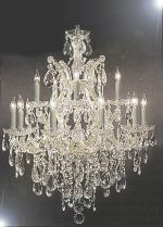 Maria Theresa Swarovski Crystal Trimmed Chandelier Lighting Chandeliers H30″ X W28″
