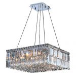 Worldwide Lighting W83512C20 Cascade 12 Light Chrome Finish with Clear Crystal Chandelier