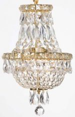 French Empire Crystal Chandelier Chandeliers Lighting , H15 X Wd11 , 3 Lights , Free Shipping