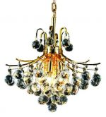Elegant Lighting 8000D16G/RC Toureg 20-Inch High 6-Light Chandelier, Gold Finish with Crystal (Clear) Royal Cut RC Crystal
