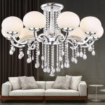 Lightinthebox European MINI Style Elegant Luxury 9 Light Crystal Chandelier, Modern Ceiling Light Fixture for Dining Room,Bedro om, Living Room