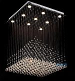 Contempo Collection CH-006 Contemporary Modern Chandelier Pendant K9 Crystals Triangular Matrix, Large