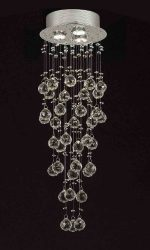 "Modern Contemporary Chandelier ""Rain Drop"" Chandeliers Lighting with 40MM Crystal Balls! H31″xW10″"