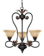 Nuvo 60/1621 3 Light Chandelier with Tangerine Peel Glass Shades