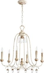 Quorum Lighting 6144-6-70, Venice 1 Tier Chandelier Lighting, 6LT, 120 Watts, Persian White