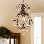 Jojospring Brushed Oak 1-light Teardrop Chandelier