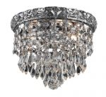 Elegant Lighting 2526F8C/RC Tranquil 7-Inch High 2-Light Flush Mount, Chrome Finish with Crystal (Clear) Royal Cut RC Crystal