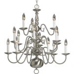 Progress Lighting P4359-09 15-Light Three-Tier Americana Chandelier, Brushed Nickel