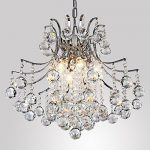 Y&L Elegant Crystal Flush Mount Light with 6 Lights, Modern/Contemporary Ceiling Light Fixture Chandelier for Kitchen, Dining Room, Living Room, Bedroom Ambient Light