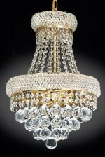 French Empire Crystal Chandelier Chandeliers Lighting , H19 X Wd14 , 3 Lights