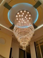 Moooni Large Modern Luxury Crystal Chandelier Lighting for Lobby Porch Living Room D 47.3″ x 98″ H