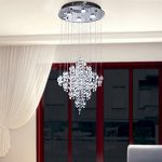 OOFAY LIGHT LED 43W Contemporary fashion K9 Crystal Modern Chandelier Rain Drop Lighting Crystal Ball Fixture Pendant