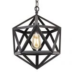 Revel Trenton 16″ Industrial Black Wrought Iron Metal Chandelier – CC2131155-BK