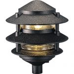 Progress Lighting P5204-31 Cast Aluminum Clear Glass Liner with 1/2-Inch NPS Threaded Fitting For Permanent or P5233 Installation, Black