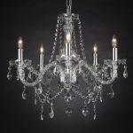 Crystal Chandelier Lighting , 5 Lights , H19″ X Wd 19″ Ceiling Fixture Pendant Lamp New Chandeliers