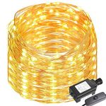 LE 65ft LED String Lights, 200 LED, Copper Wire, Flexible Fairy Lights, Warm White, Indoor and Outdoor Starry String Lights for Garden, Patio, Wedding,Tree, Party, Christmas, Thanksgiving, UL Listed