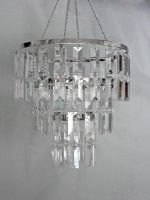 10.5″ wide 3 Tiered Faux Crystal Chandelier