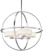 Kichler Lighting 42505CH Olsay 3-Light Chandelier, Chrome Finish with Satin Etched Cased Opal Glass
