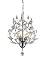 Whse of Tiffany RL8026 Marie 4-Light Chrome 13″ Crystal Chandelier