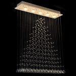 Contemporary Modern Crystal Rain Drop Chandelier Lighting Flush Mount Led Ceiling Bathroom Fixtures Pendant Lamp for Living Dining Room Foyer Bedroom Hallway Entry L32″ X W8″ X H40″ Of Ella Fashion®