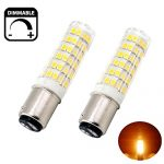 Bonlux 6W Dimmable Ba15d Double Contact Bayonet Base LED Bulb 120 Volts Warm White JD Type Ba15d 50W T4 Halogen Replacement Bulb for Chandelier Crystal Ceiling Lamp Light (Pack of 2)