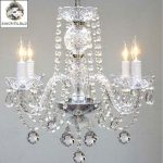 Swarovski Crystal Trimmed Chandelier! Chandelier Chandeliers Lighting W/ 40MM Crystal Balls