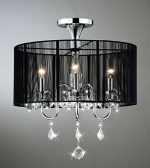 Jojospring Semi Flush Mount Crystal Chandelier