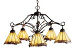 Elk 035-Ia Grape Trellis 5-Light Chandelier, 18-Inch, Antique Iron