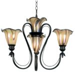 Kenroy Home 90895TS Inverness Four-Light Chandelier, Tuscan Silver with Chrome Swirl Globes