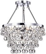 Whse of Tiffany RL9795 Warehouse of Tiffany  Eleanor Crystal Chandelier