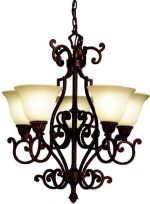 Kichler Lighting 2049TZG 5-Light Larissa Incandescent Chandelier, Tannery Bronze