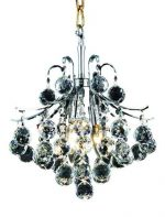 Elegant Lighting 8000D12C/RC Toureg 15-Inch High 3-Light Chandelier, Chrome Finish with Crystal (Clear) Royal Cut RC Crystal
